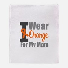I Wear Orange For My Mom Throw Blanket