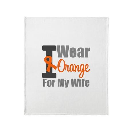 I Wear Orange (Wife) Throw Blanket