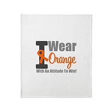 I Wear Orange (Attitude) Throw Blanket