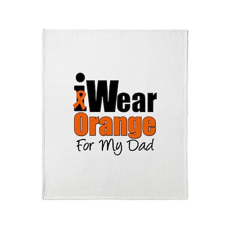 Leukemia (Dad) Throw Blanket