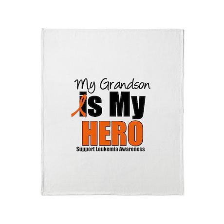 Leukemia Hero (Grandson) Throw Blanket