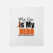 Leukemia Hero (Son) Throw Blanket