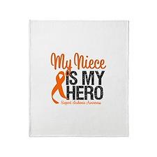 LeukemiaHero Niece Throw Blanket