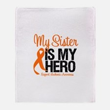 LeukemiaHero Sister Throw Blanket