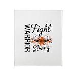 Leukemia Fight Strong Throw Blanket