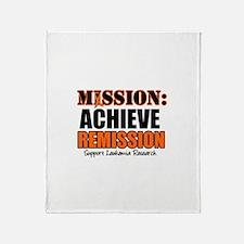Mission: Achieve Remission (L Throw Blanket