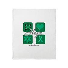 Hope Liver Cancer Throw Blanket