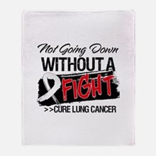 Not Going Down Lung Cancer Throw Blanket