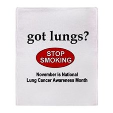 Lung Cancer Awareness Throw Blanket