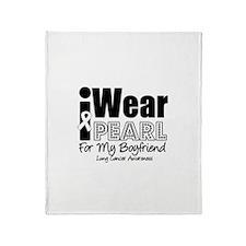 I Wear Pearl For My Boyfriend Throw Blanket