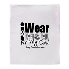 I Wear Pearl For My Dad Throw Blanket