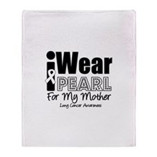 I Wear Pearl For My Mother Throw Blanket