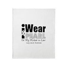 I Wear Pearl (MIL) Throw Blanket
