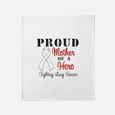 ProudMotherLungCancer Hero Throw Blanket