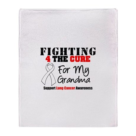 Fighting Lung Cancer Throw Blanket