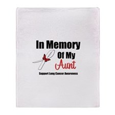 In Memory Aunt Lung Cancer Throw Blanket