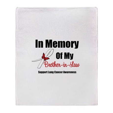 InMemoryBIL Lung Cancer Throw Blanket