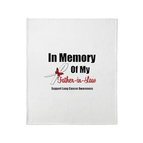InMemoryFIL Lung Cancer Throw Blanket