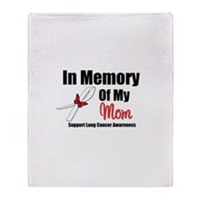 InMemoryMom Lung Cancer Throw Blanket