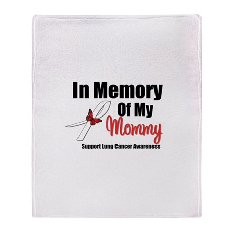 InMemoryMommy Lung Cancer Throw Blanket