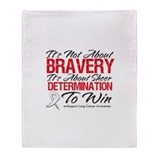 Bravery Lung Cancer Throw Blanket