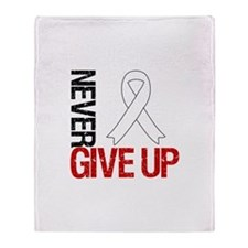 Lung Cancer Never Give Up Throw Blanket