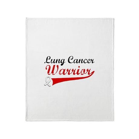 Lung Cancer Warrior Throw Blanket