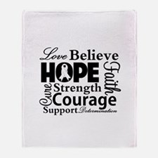 Lung Cancer Hope Collage Throw Blanket