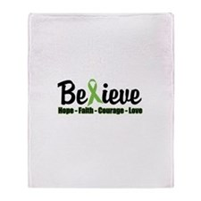 Believe (Lymphoma Awareness) Throw Blanket