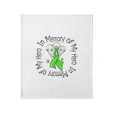 Lymphoma Memory Hero Throw Blanket