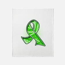 Lymphoma Collage Ribbon Throw Blanket