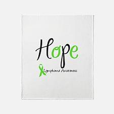 Hope Lymphoma Throw Blanket