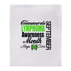 Lymphoma Awareness Month Throw Blanket