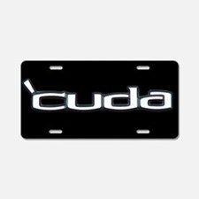 'CUDA Aluminum License Plate