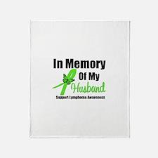 In Memory of My Husband Throw Blanket