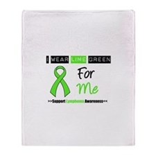 I Wear Lime Green For Me Throw Blanket