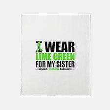 I Wear Lime Green Sister Throw Blanket
