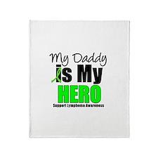 Lymphoma Hero (Daddy) Throw Blanket