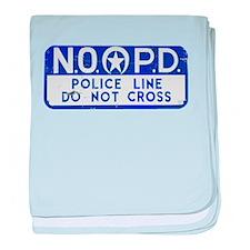 New Orleans NOPD Police Line baby blanket