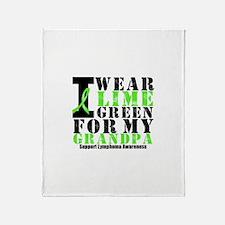 Lymphoma Grandpa Throw Blanket