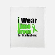 Lime Green Husband Throw Blanket