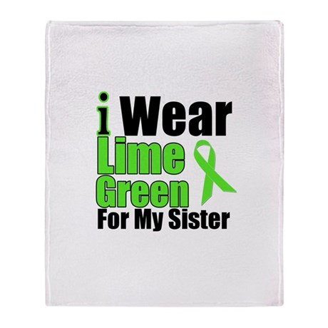 Lime Green Sister Throw Blanket