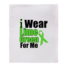 Lime Green For Me Throw Blanket