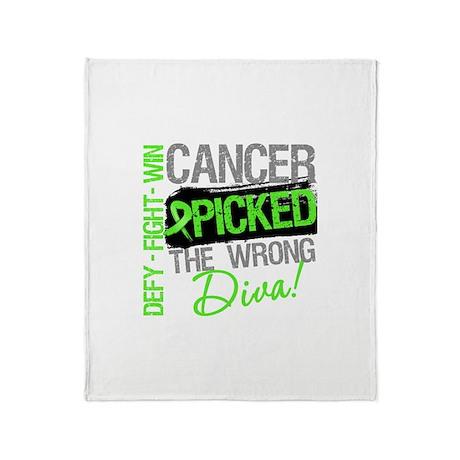 Lymphoma Diva Throw Blanket