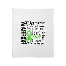 Collage Lymphoma Warrior Throw Blanket