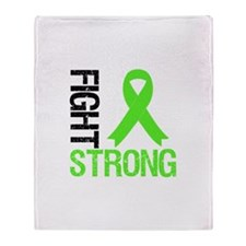 Lymphoma Fight Strong Throw Blanket