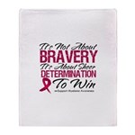 Multiple Myeloma Bravery Throw Blanket