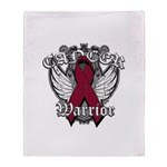 Multiple Myeloma Warrior Throw Blanket