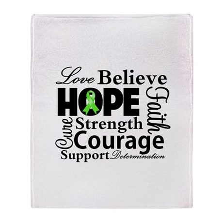 Non-Hodgkins Hope Collage Throw Blanket