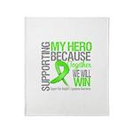 Hero NonHodgkins Lymphoma Throw Blanket